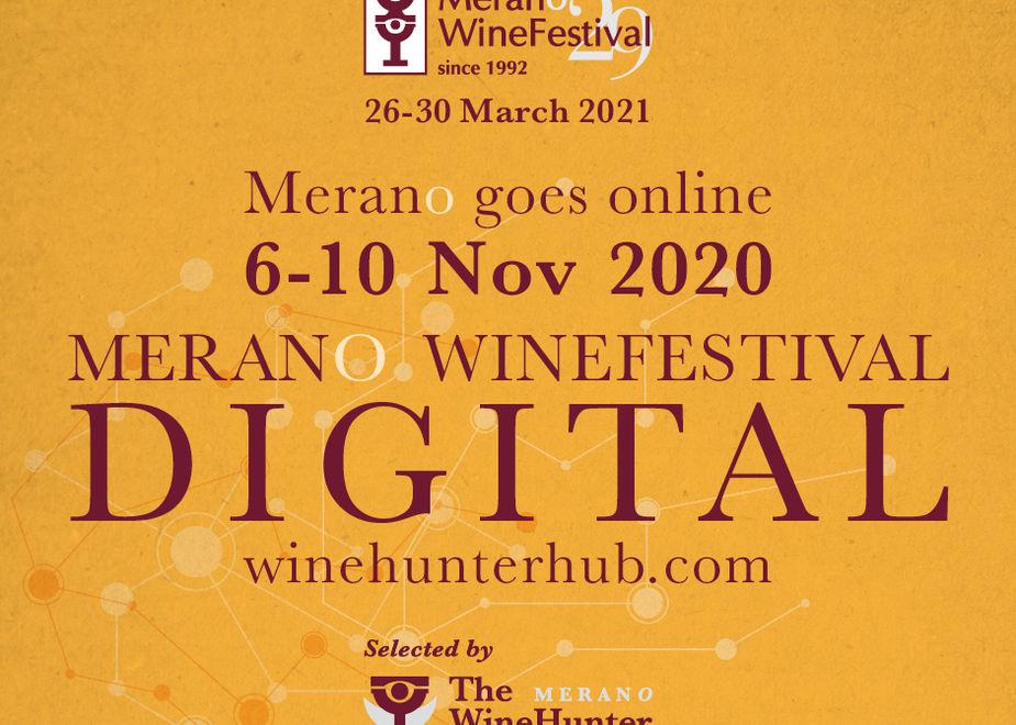 Dal 6-10 novembre Merano WineFestival è digital su WineHunter Hub